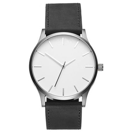 Men's Large Dial & Matte Belt Luxury Wrist Watch