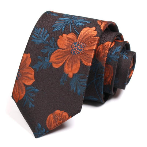 Men's Brown Vintage Cotton Tie