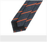 Men's 7cm Orange Stripes Retro Fashion Tie