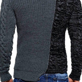 Men's Fashion Round Neck Color Matching Self-cultivation Sweater