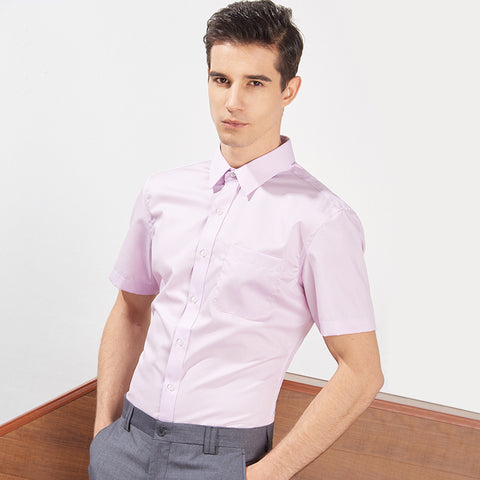 Men's Short-sleeved Slim Shirt