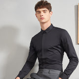 Men's Long Sleeve Plain Shirt