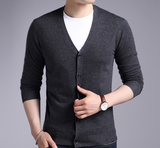 Men's V-neck Long Sleeve Cardigan Sweater