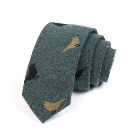 Men's Dark Green Cotton Tie