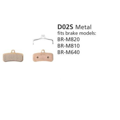 Shimano Disc Brake Pads - D02S Metal