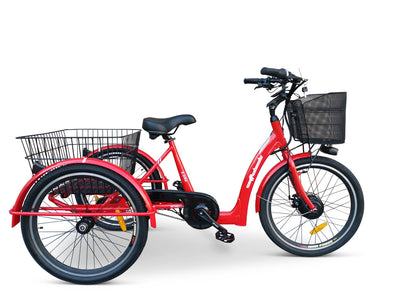 Watt Wheels Trike Electric Bike Low Step in Red