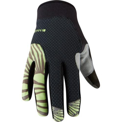 Madison Flux Womens Gloves in Phantom / Sharp Green
