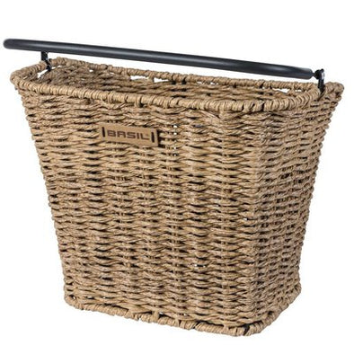 Bike basket in Rattan Look seagrass from Basil