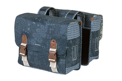 Bicycle double bag from Basil in boheme blue
