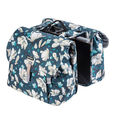 Bicycle double pannier bag Mognolia blue from Basil