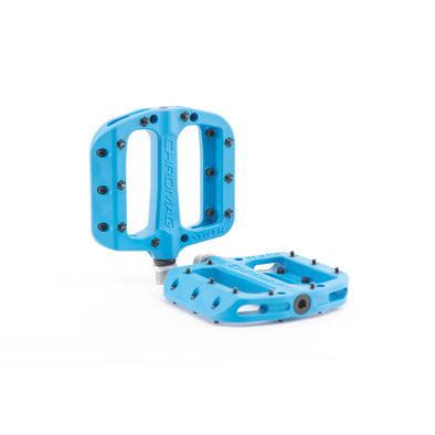 Chromag Synth Nylon flat bike pedals in blue