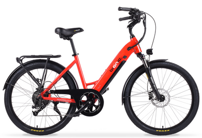 Bionic City-X2 Sensordrive electric bike with hub motor in red