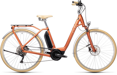Cube Ella Ride Hybrid 400 Rostorange n green- City Cruiser Ebike