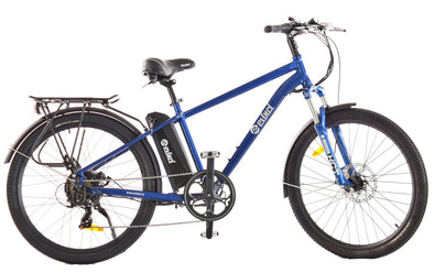 Evinci Falcon electric trekking bike with hub motor blue