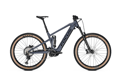 Focus Jam 6.8 Plus Full Suspension E-Bike with New Bosch Motor in Blue Granite