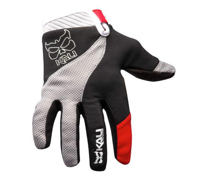 Kali Hasta bike gloves in black, red and white.