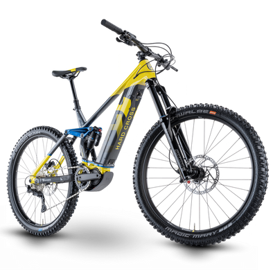 Husqvarna Hard Cross 6 2021, Electric Enduro Mountain bike in Yellow and Grey