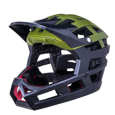 Kali invader Full Face bike helmet in Green and black
