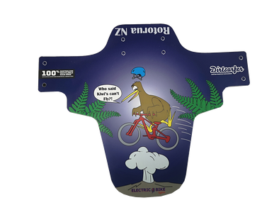 Dirtsurfer Rotorua Kiwi NZ souvenir bike mudguard in blue