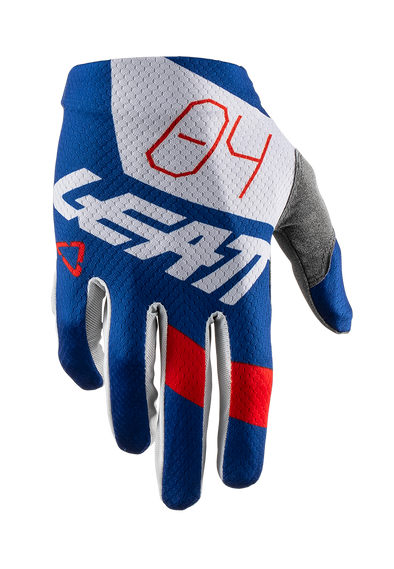 Leatt MTB Gloves GPX 1.5 Grip in royal with red