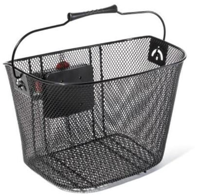 Oxford Black Front mesh Basket with QR Mounting System