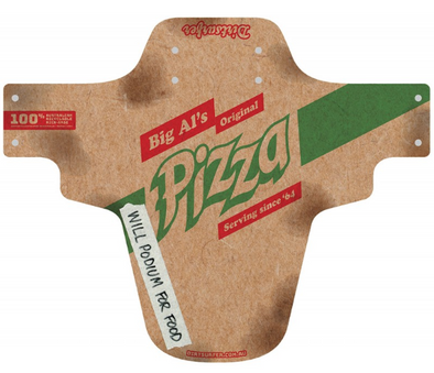 Dirtsurfer mudguard in Pizza style.