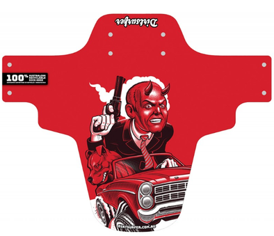 Dirtsurfer Road Rage Red Mudguard