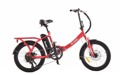 Evinci Robin folding electric bike with hub motor red