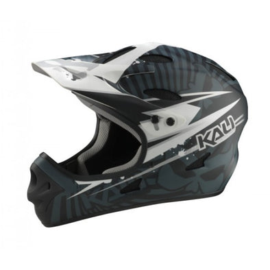 Kali Savara Psycho Full Face Helmet in Black and White