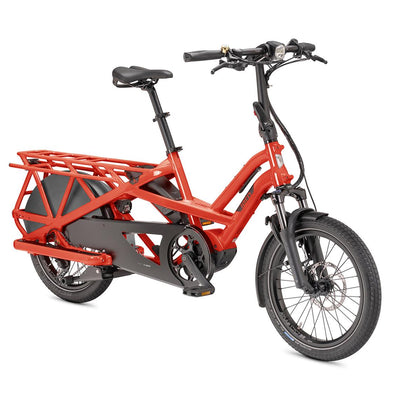 Tern GSD Cargo E-bike in Tabasco Red