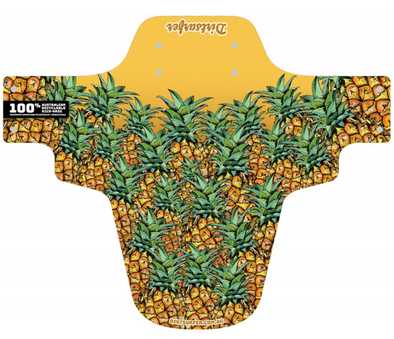 Dirtsurfer Yellow Mudguard in Pineapple style.