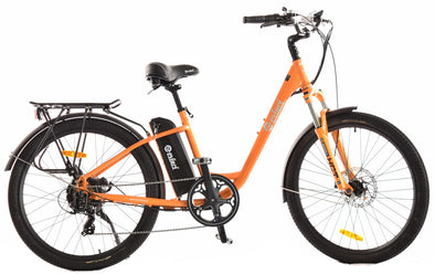 Evinci Tui electric step-through bike with hub motor orange