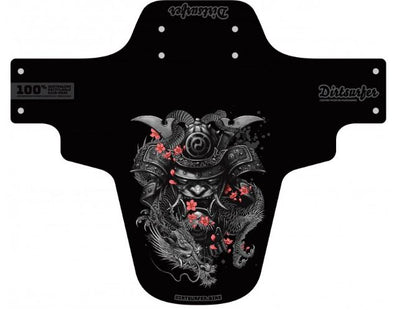 Dirtsurfer black mudguard in Freeride Samurai style.