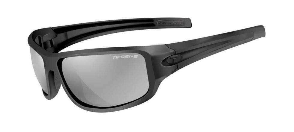 Tifosi Bronx Glasses Gloss Black, Smoke Lens