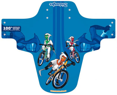 Dirtsurfer Trail Ninjas Mudguard in blue