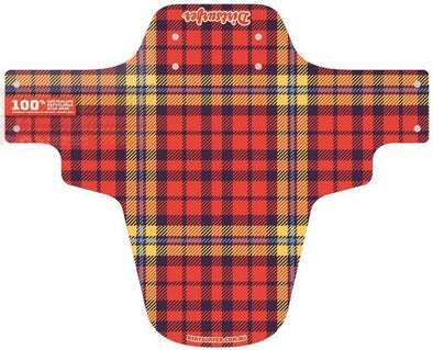Dirtsurfer Plaid to the Bone 2 mudguard in red.