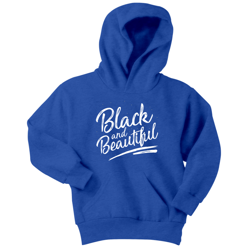 Black and Beautiful Youth Hoodie - Melanin Magic