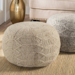 Makena Fabric Pouf