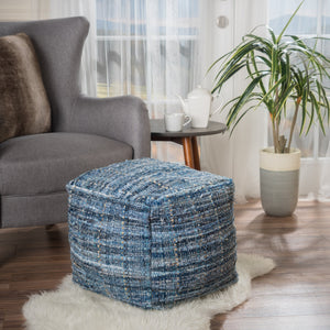 Harnett Denim Fabric Pouf