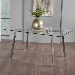 Zair Tempe Glass Dining Table