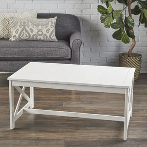 Nels Indoor Farmhouse Finished Acacia Wood Coffee Table