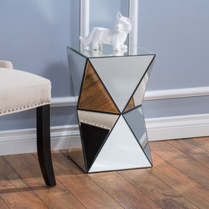 Zula Mirrored Side Table