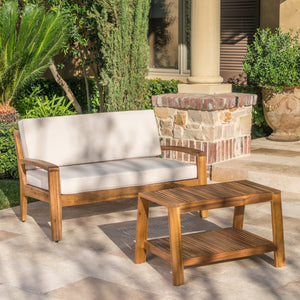 Brier Loveseat And Coffee Table Set For Patio