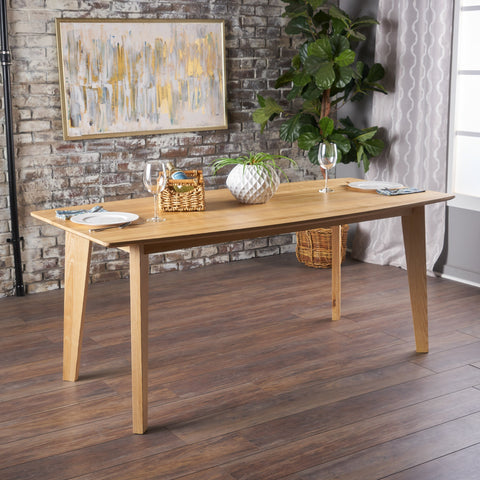 Cassius Neutral Finished Ash Wood Dining Table