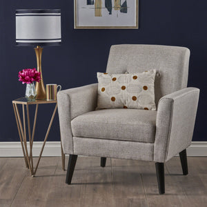 Shiloh Mid Century Fabric Club Chair