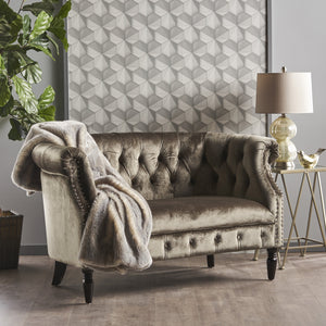 Migdalia Tufted Scroll Arm Loveseat