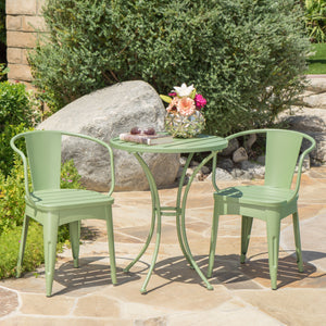 Coleman Outdoor 3 Piece Matte Iron Bistro Set