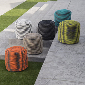 Concord Outdoor Fabric Round Pouf Ottoman