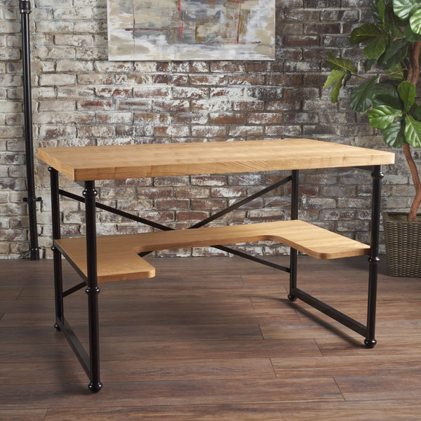 Garner Industrial Natural Wooden Desk