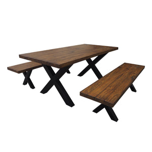 Miriam Indoor 3 Piece Finish Concrete Picnic Set